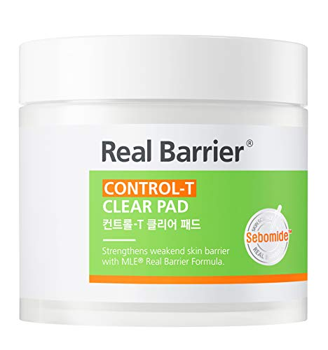 Real Barrier Control-T Clear Pad for Oily and Troubled Skin 60Pads, Removing...