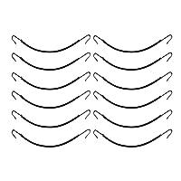 BESTOYARD ポニーテールフック ヘアクリップ 弾性 ヘアクリップ 髪留め ヘアアクセサリー ヘアスタイリング ヘアブレイド 弾性ゴムヘアバンド 12本 (黒)