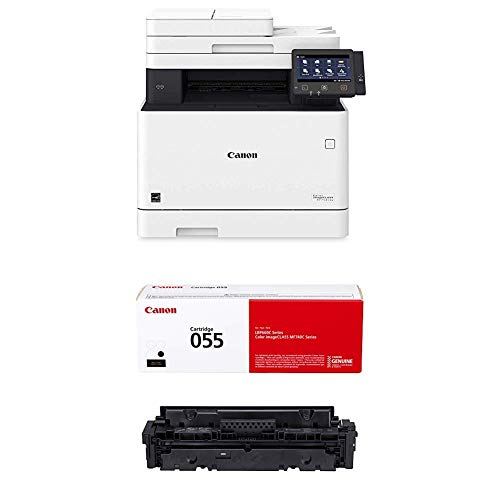 Canon Color imageCLASS MF743Cdw - All in One, Wireless, Mobile Ready, Duplex Laser Printer (Comes with 3 Year Limited Warranty) and Cartridge 055 Black, Standard ‐ Yields up to 2,300 Pages