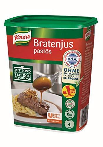 Knorr Bratenjus pastös (vielseitig anwendbar als klarer Bratensaft, Bratensoße und braune Soße) 1er pack (1 x 0,4 kg)