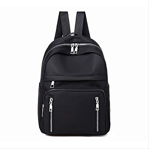 HDRE Backpack Women Casual Backpack Nylon Oxford Cloth School Bag Waterproof Fashion Backpack Black Student Backpack Ladies 34 * 25 * 13cm black