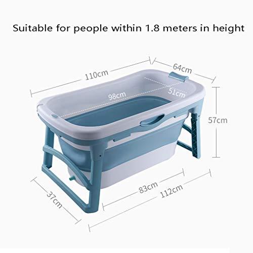 Draagbare douchecabine bad volledige lichaam baden vat vouwen volwassen plastic dikker anti-slip grote douchebak badkamer afvoerbad (kleur: blauw, maat: geen deksel)