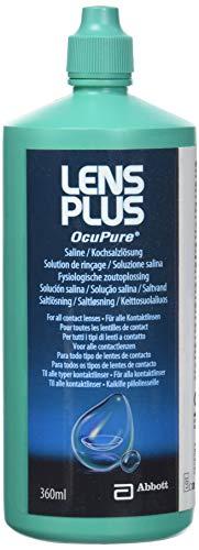 AMO Lens Plus OcuPure Saline – Sterile Kochsalzlösung zum Abspülen und Benetzen aller Kontaktlinsen – Ohne Konservierungsstoffe – 1 x 360 ml