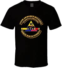 2XLARGE - Army - Ssi - 10th Armored Division - Europe - Wwii T Shirt - Black
