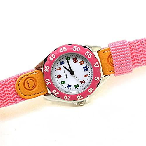 watch Niños lindos niñas reloj de cuarzo niños niños correa de tela estudiante reloj reloj de pulsera regalos