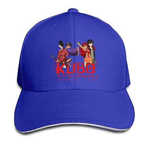 Hualihusao Kubo and The Two Strings Chibi Adult Retro Denim Cap Adjustable Baseball Cap for Outdoor Peaked Cap Black