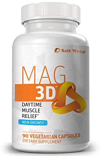 SaltWrap Mag 3D – Daytime (Non-Drowsy) Muscle Relax Pills for Leg Cramps Relief & Muscle Spasms, Natural Supplement for Nerve Health, Aches & Pains with Turmeric, Alpha Lipoic Acid & Magnesium Malate