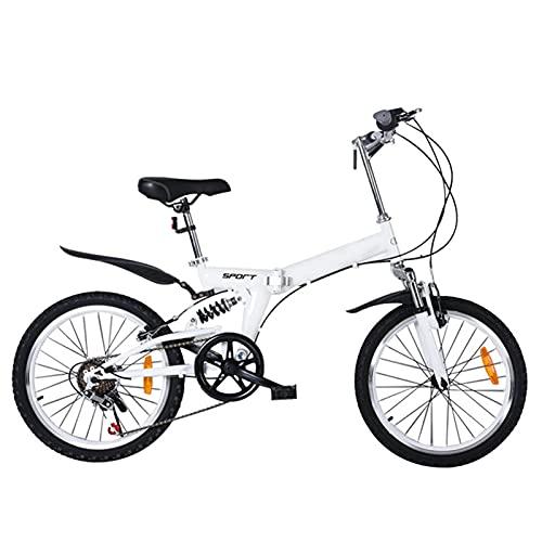 Bicicleta de montaña exterior, 20 pulgadas de bicicleta plegable adolescente adolescente al aire libre carreras de bicicleta de carreras urbano de la bicicleta engranajes de la bicicleta de los engran