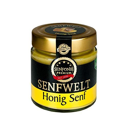 Altenburger Original Senfonie Premium Honig Senf 180 ml, mittelscharfer Senf mit 25% Honig verfeinert, glutenfrei