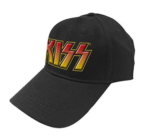 KISS Baseball Cap Classic Band Logo Nue offiziell Schwarz Snapback