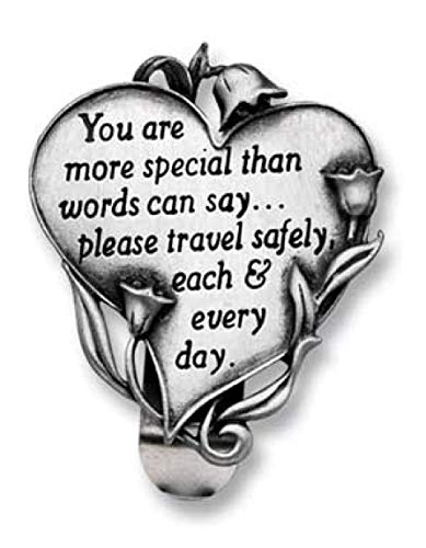 GKG Heart Shaped Visor Clip for CAR/Automobile - You are More Special Than Words Can Say. Never Drive Faster Than Your Guardian Angel Can Fly Safe Travel Sentiment/Gift Parents/New Drivers/Driver Sa