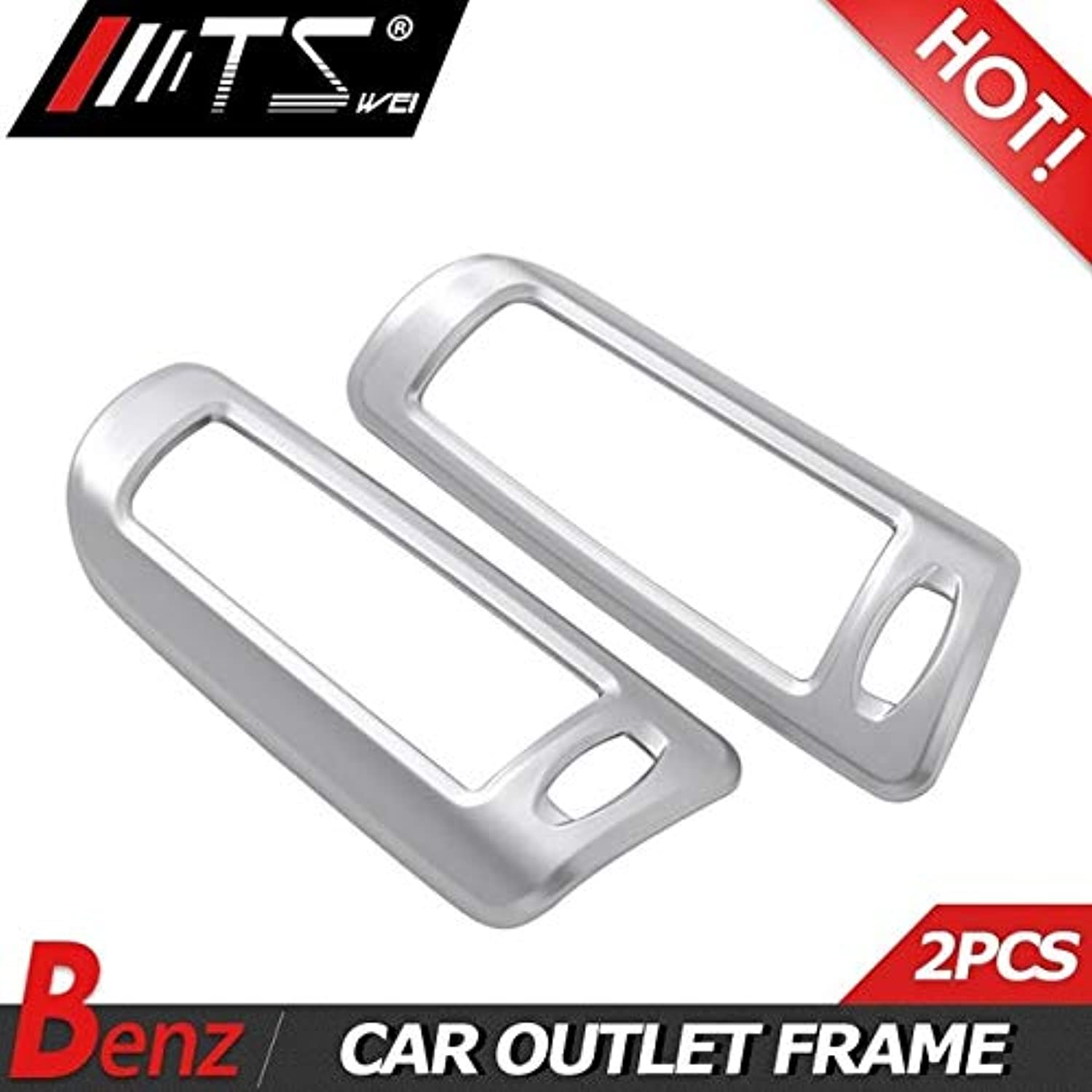 Car Accessories for Mercedes Benz S Class W222 S300 S320 S350 S400 ABS Chrome B Pillar Air Conditining Outlet Frame Trim  (color Name  Black)