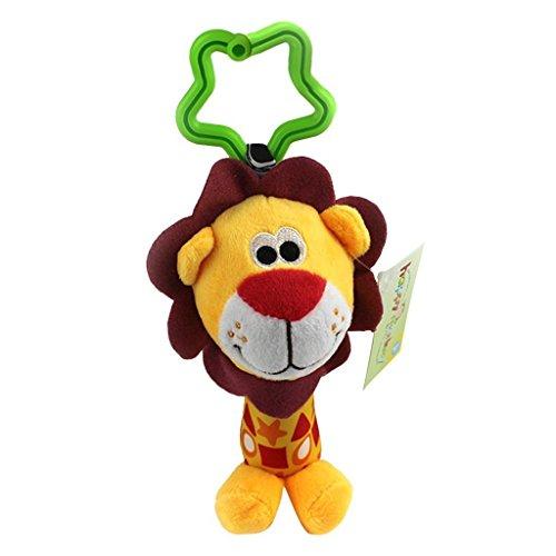 Primi Funny Lion bébé à suspendre Hochets Marionnette à main avec poussette Jouets