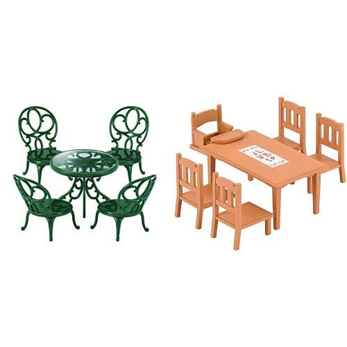 Sylvanian Families - 4507 - Set Mesa y sillas de jardín + - 5224 - Set decoración de jardín