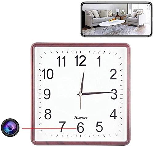 LXDZXY Reloj De Pared Cámara WiFi, HD 1080P Smart Wireless Nanny CAM, Detección De Movimiento, App Transmisión Remota En Línea para El Hogar, La Oficina, La Tienda
