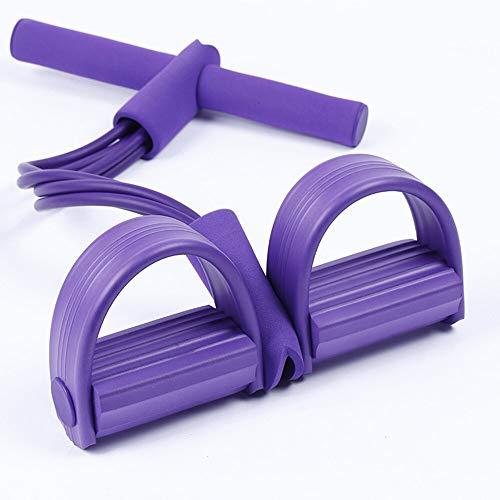 Bandas expansor de pecho de látex Pedal Ejercitador Sit-up Pull Rope Expander Bandas elásticas Equipo de yoga Entrenamiento (color aleatorio)