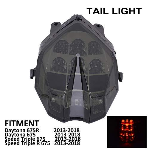 YSMOTO Faros Traseros LED para Motocicleta, Luces traseras integradas, luz de señal Trasera, para Triumph Daytona 675 / Daytona 675R 675 R/Speed Triple 675 / Speed Triple 675 R 2013-2018 Street Bike