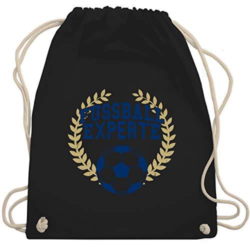 Shirtracer Fußball - Fussball Experte - Unisize - Schwarz - turnbeutel fussball - WM110 - Turnbeutel und Stoffbeutel aus Baumwolle