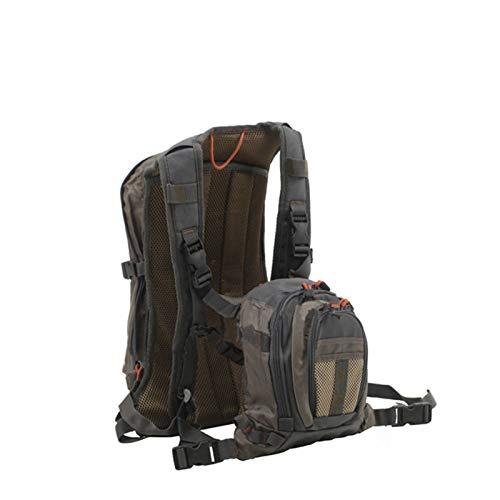 Lucky DuDu Fliegenfischen-Rucksack-Brust-Pack-Tasche Allgemeine Größe Multi-Funktion Mutil-Tasche