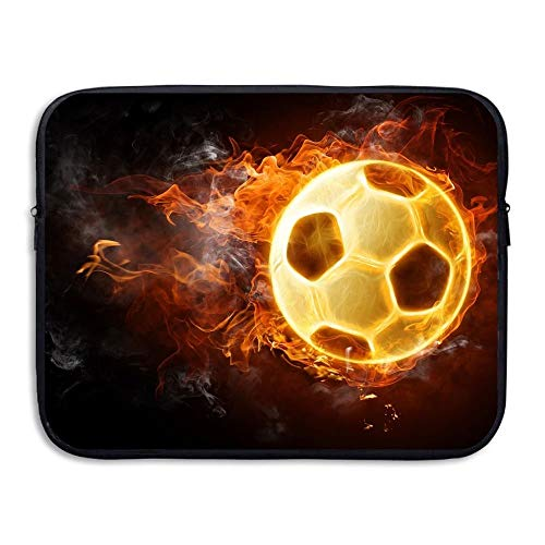 Laptop Sleeve Bag Blazing Soccer Fire 15 Inch BriefSleeve Bags Cover Notebook Waterproof Portable Messenger Bags