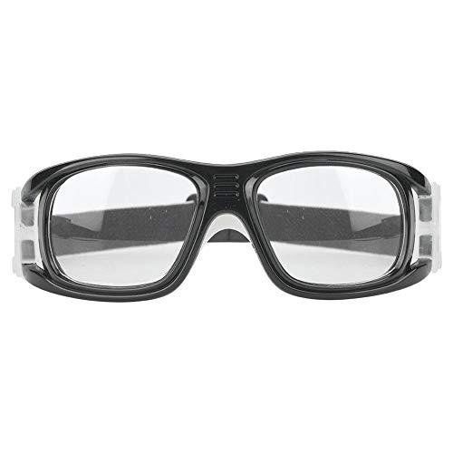 Keenso Sportbrillen, Unisex Anti-Fog-Basketball-Brille Sportschutzbrille Schutzbrille für Basketball Fußball Volleyball(Helles Schwarz)