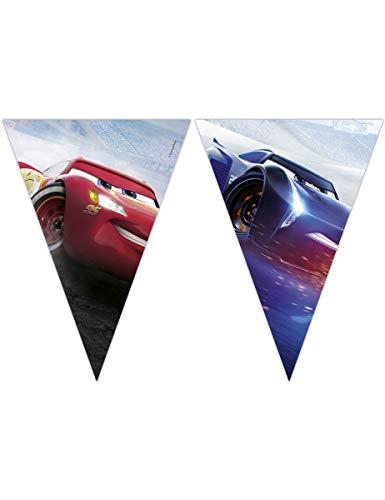 Guirnalda 9 banderines Cars 3 2.3 m x 25 cm