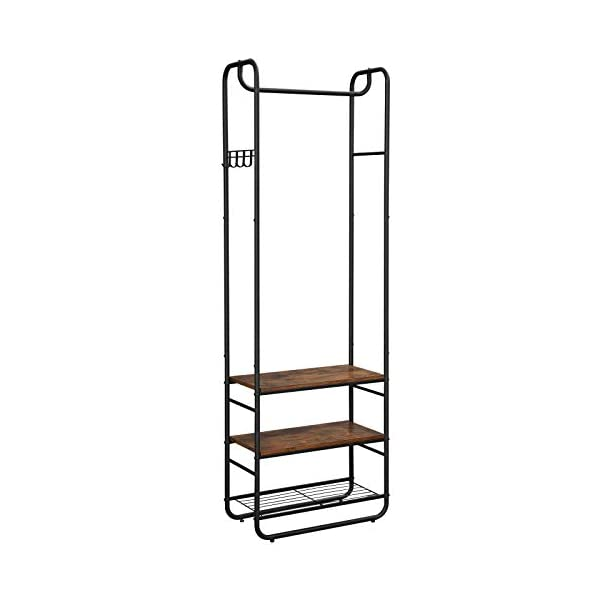 VASAGLE DAINTREE Hall Tree, Coat Rack and Stand with Shoe Shelves, Hallway, Bedroom,...
