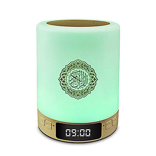 Wavel Control Remoto inalámbrico Quran Touch LED Lamp, Quran Bluetooth Speaker Light, MP3 Music Player, Quran Translation, 7 Colors Light, Green Upgraded Version, con App + AZAN Function