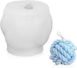 Multi Moule pour Bougie, Moule 3D Cube Boule Silicone, pour la Fabrication de Bougies, Savon, Gâteaux, Chocolats, Partie D...