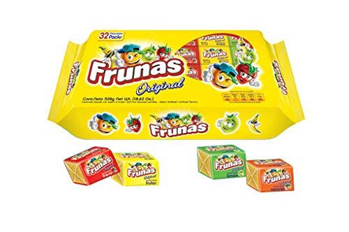 Frunas - Original - Caramelos Masticables con Sabor a Frutas - Producto Venezolano -32 Unidades - 352 Gramos