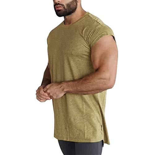 Luckycat Herren Tanktop Tank Top Tankshirt T-Shirt mit Print Unterhemden Ärmellos Weste Muskelshirt Fitness Gym Herren Tank Top Men Cotton Stringer Fitness Gym Shirt Solide Sport VES