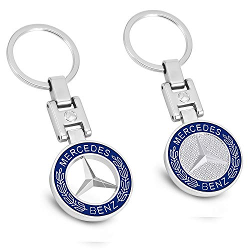 New Car key chains 3D Metal Emblem Pendant Car Logo key ring for BMW Mercedes Benz VW AUDI (For Benz)