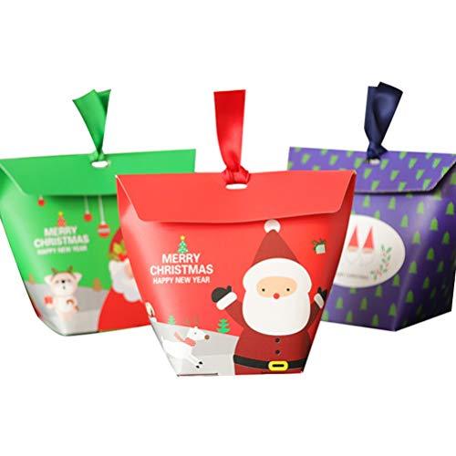 LIOOBO 30pcs Weihnachtsgeschenkkastenpapierverpackungskästen bewegliche kreative reizende Süßigkeitskasten-Geschenkbehälter für Süßigkeitskeks-Plätzchengeschenke die Kuchenkästen in Handarbeit machen