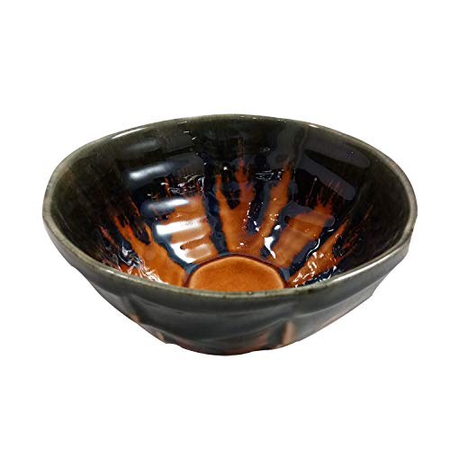 India Meets India Thanksgiving Handicraft Ceramic Serving Bowl Mixing Bowls Fruit Bowl Salad Bowl Snack Bowl, 600ml. Best Gifting Made by Awarded Indian Artisan