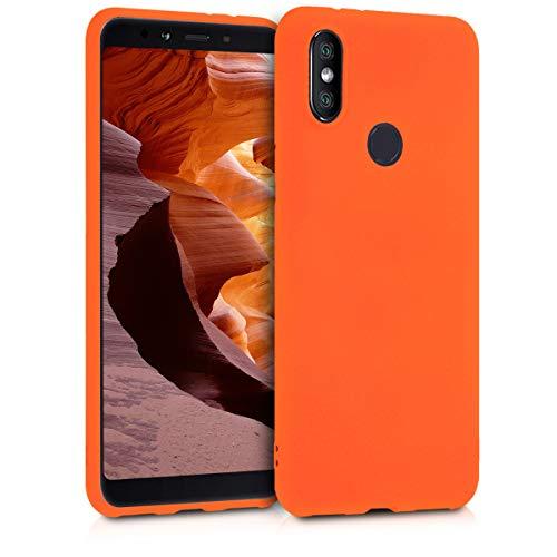 kwmobile Funda Compatible con Xiaomi Mi 6X / Mi A2 - Carcasa de TPU Silicona - Protector Trasero en Naranja neón