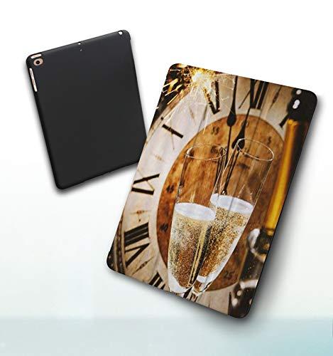 Funda para iPad 9,7 Pulgadas, 2018/2017 Modelo, 6ª / 5ª generación,Concepto de Arte de Personalidad Creativa de Reloj de Copa de Vino, Smart Leather Stand Cover with Auto Wake/Sleep