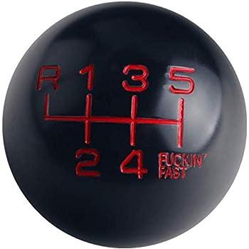 DEWHEL Round Ball Billet M12x1.25 5 Speed Short Throw Shifter Shift Knob MT Manual Gearbox Screw On Black