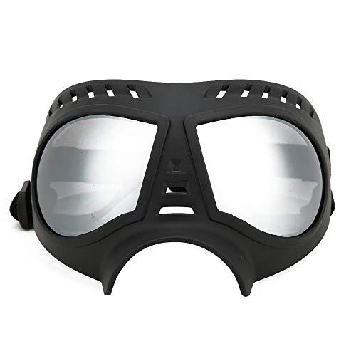 YOUTHINK Lente PC Nera TPE Montatura Morbida Pet Visiera Occhiali Occhiali Impermeabili Occhiali da Sole Antivento per Cani di Taglia Media e Grande(1-Nero)