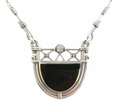 Art Deco Damen Collier 925 Silber Swarovskikristall klassisch