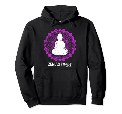 Buda Zen As 'F' - Diseño de símbolo funky Zen AF Sudadera con Capucha