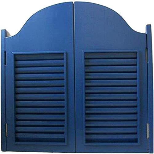 Cafe Türen/Swinging Doors Cafe Türen Anpassbare Küche aus Massivholz Trennwand Tür Bar Saloon Gate, American Style Louver-Design (Farbe: A, Größe: 95x60cm) / Saloon Swing Bar Pub Swinging Pendeltür