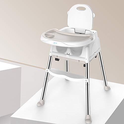 LMJ Outsider Kinderstoel, multifunctionele opvouwbare draagbare kinderstoel, eettafel, stoel, stoel, beige, plaatkussen (vier rondes verzenden)