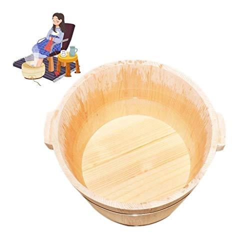 ZWXXQ Cubo de baño de pies Madera Baño de pies Barril Cuidado Caliente Pies Baño de pies Pierna de Madera Sauna de Masaje Baño de pies de Madera Aislamiento del hogar- B