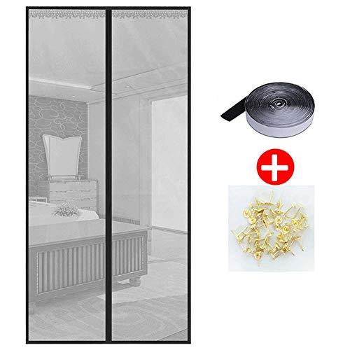 AIYKXY Mosquitera magnética para puerta con potentes imanes, fácil instalación, sin huecos, mantener alejado de mosquitos insectos, gris