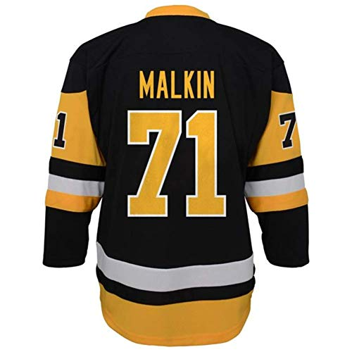 Outerstuff Evgeni Malkin Pittsburgh Penguins #87 Black Yellow Youth Replica Home Jersey (Large/X-Large 14-20)