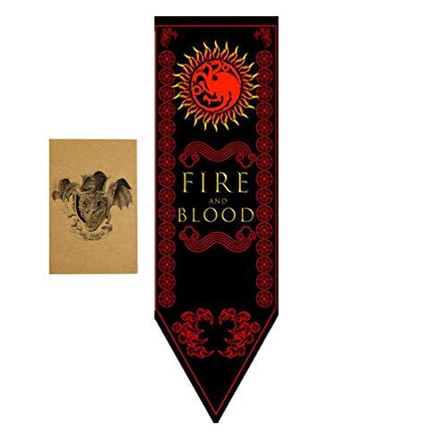 ZCWOLTM Regali di Compleanno per la Figlia, [150X45CM], Game of Thrones Banner e Banner per la Decorazione per Feste