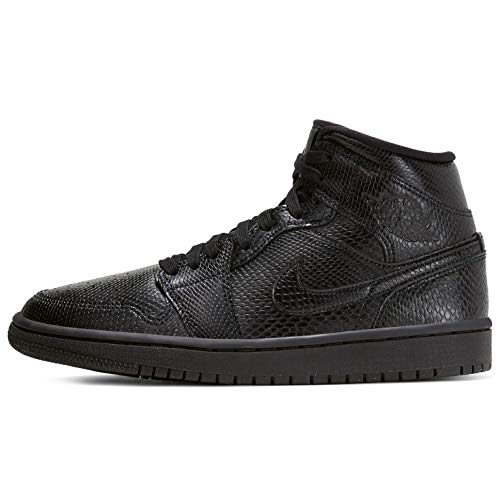 Nike Damen WMNS AIR Jordan 1 MID Basketballschuh, Black Black White, 39 EU