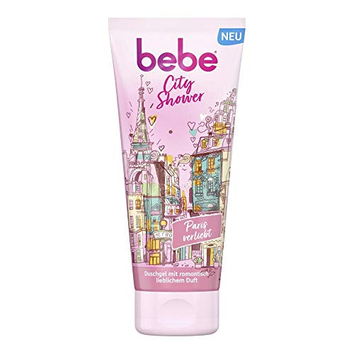 bebe City Shower Paris verliebt Duschgel mit romantisch lieblichem Duft, verwöhnende Pflegedusche (1 x 200 ml)