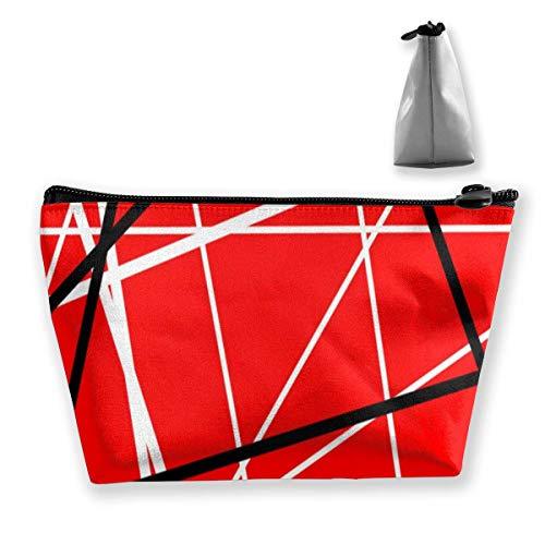 Cadeau idéal – Sac de rangement multifonction rétro noir Trippy Art multifonctionnel sac de rangement pour cosmétiques, petit sac de maquillage, trousse de toilette portable avec fermeture éclair