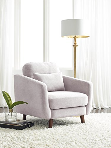 Serta Sierra Living Room Sofas Modern Design Microfiber Upholstered Couch Ideal for Smaller Spaces, Arm Chair, Ivory